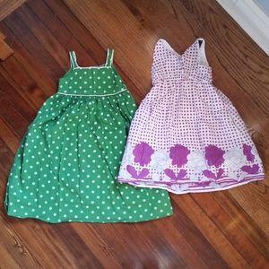 Pair of Gap Polka Dot Cotton Dresses Size 4